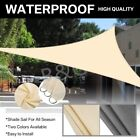 Sun Shade Sail Outdoor Top Canopy Patio 98% UV Block Shelter Triangle 3m 3.6m