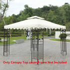 Canopy Replacement Top 10'x10' Patio Pavilion Gazebo Sunshade Polyester Cover US