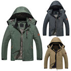 Mens Hiking Camping Hooded Soft Shell Outdoor Waterproof Jacket Coat Outwear 4XL