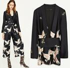 Fashion Womens Floral Belt Trench Slim Blazers Coats Casual Jacket Outwear H87