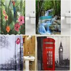 UK 3D Waterfall Waterproof Bathroom Bath Shower Curtain with 12 Hooks 180cm NEW