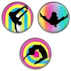 Click Button Tanzen HipHop Dance  -20mm- Glas - kompatibel Chunk Systeme