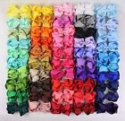 Wholesale 50~200pcs 6inch Baby Girl double layers Hair bows 430C (196 colors) Y
