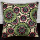 AF259a Green Olive Sand Ethnic Cotton Canvas Cushion Cover/Pillow Case Customize