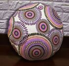 AF257n Lilac Pink Dot Cotton Canvas Round Cushion Cover/Pillow Case Custom Size