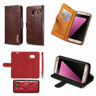 Fr Samsung Galaxy S7 Edge Microfiber Genuine Leather Separable Wallet Case Cover