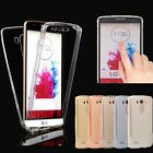 360 Degree Clear Gel 2 Pieces Front & Back Full Body Silicone Case Cover For LG