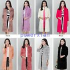 Womens Stand Collar Real  Fur Outwears Candy Outwear Chic Long Coat Jacket