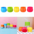 Kids Children Sippy Glass Cup Lid Silicone Snug Straw Spill-Proof Cup Cover Safe
