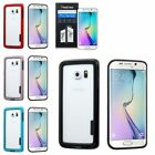 For Samsung Galaxy S6 Edge Stylish Bumper Frame Phone Case Cover+Protector