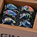 3CM/1.18inch Mini Colorful  Fishing Lures Crankbait Hooks Baits Bass Tackle New