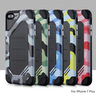 120pcs/lot Super Hornet Camouflage Shockproof Armor Hybrid 2 in 1 Anti-Fall Case