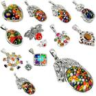Factory direct  925 silver multicolor pendant jewelry by jewelexi 5027B