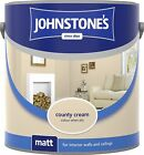 Johnstone's Premium Paint For Walls And Ceilings - Country Cream 2.5 & 5Ltr