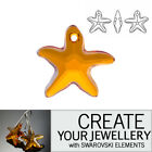Genuine Swarovski Elements 6721 Topaz Orange Starfish DIY Bead Jewellery making