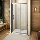 Walk In Sliding Door Glass Cubicle Screen Shower Enclosure Tray Waste