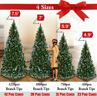 5 75 Green Artificial Christmas Tree w White Snow Tips and Pinecones Decorate