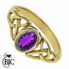 BJC® 9ct Yellow gold Amethyst Celtic Oval Solitaire engagement ring R247