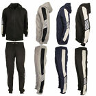 Mens Full Tracksuit Set Fleece Hoodie hooded Top Bottoms Joggers Gym Trackies