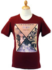 SALE NEW MENS FLY53 EXPO RETRO 70S INDIE BAN THE BOMB T SHIRT IN OXBLOOD K38