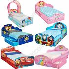 DISNEY CHARACTER TODDLER BEDS WITH STORAGE 3 MATTRESS OPTIONS AVAILABLE NEW