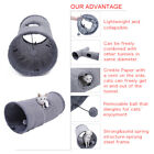 Grey Suede Pet Cat Tunnel 1/2 Holes Large Cat Play Tunnels Rabbit Toys With Ball