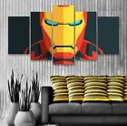 Iron Man Retro 5 Panel Canvas, Avengers, Wall Art, Picture, Painting, Print #164