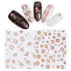 Rose Gold 3D Nail Sticker Metallic Dreamcatcher  Adhesive Transfer Decal