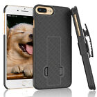 APPLE IPHONE 8 / 8 PLUS SHELL HOLSTER BELT CLIP COMBO CASE COVER WITH KICKSTAND
