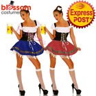 8046 Ladies Beer Maid Oktoberfest Costume Gretchen German Dress Up Heidi Wench