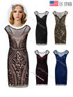 Women's 1920s Flapper Dress Gatsby Party Cocktail Evening 20s Prom Dress 4 10 18