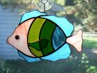 Handmade Stained Glass Tropical FISH SUNCATCHER (FV41)