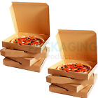 "Pizza Boxes - 12"" Takeaway Pizza Box, Strong Quality Postal Boxes BROWN NEW"