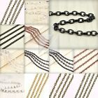 4M 13.12feet Unfinished Chains Necklaces Curb Chain 5 COLOR 2.8x1.4x0.5mm