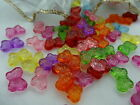8x13mm 50/100/200pcs CLEAR ASSORTED COLORS ACRYLIC BOW TIE BEAD TY3389