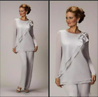 Two Pieces Mother Of The Bride Pants Suit For Weddings Cheap Chiffon Mother's