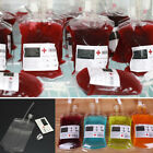 2/5/10 Reusable IV Blood Bag Halloween Party Haunted House Drink Container Decor