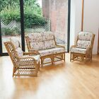 Cadiz Cane Conservatory Furniture Suite Set with Luxury Cushions