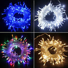 Electric 2/10M/20M/100M Mains Plugin String Fairy Lighting Garden Outdoor Lights