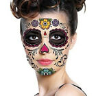 2 Sheets Day Of The Dead Dia de los Muertos Face Mask Sugar Skull Tattoo Beauty $0.77 USD
