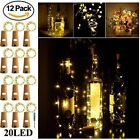 12pack Cork Shaped 20 LED Night Light Starry Lights Wine Bottle Lamp For Party