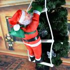 US Santa Claus Climbing on Rope Ladder Outdoor Xmas Christmas Tree Decoration
