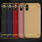 For Apple iPhone (X) Rubber feel Slim Hybrid Shockproof Hard Case Back Cover