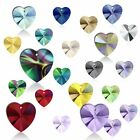 10.3 x 10mm (Any Colors) Genuine Swarovski Pendant Heart 6228 Crystal Rhinestone