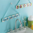 Mud Pie Baby Boys Sign Wash Your Hands  or Brush Your Teeth 118306 Nursery Decor