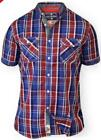 QUALITY DUKE D555 MENS SUPER KING SIZE RED & BLUE CHECK SHIRT SIZES 3XL 4XL 5XL