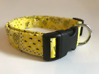 YELLOW BANDANA PRINT DOG COLLAR (YOU PICK THE SIZE)