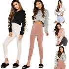 Womens Baggy Raw Edge Sweat Cropped Jumper Dance Gym Sporty Poll Over Crop Top@