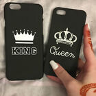 For iPhone X 8 7 6s Plus 5 SE King Queen Crown Cute Back Case Cover Protector