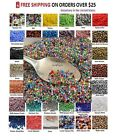 Внешний вид - TINY BEADS 11/0 Czech 10-Grams Glass Seed Beads PICK COLOR